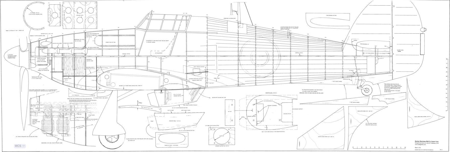 1/4 scale Hawker Hurricane-Gas - $460 00 : Laser Design Services