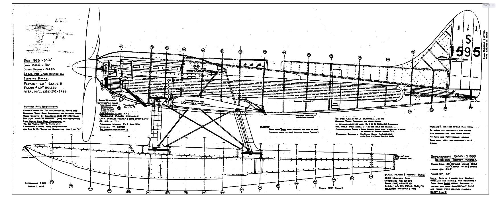 1 5 Scale Supermarine S 6b Laser Design Services